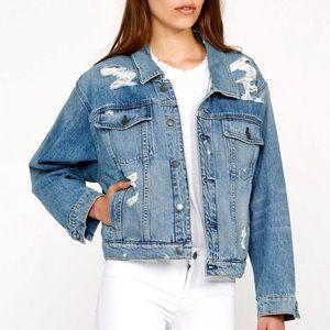 Hudson Reinvented Denim Jacket Ripped Oversized